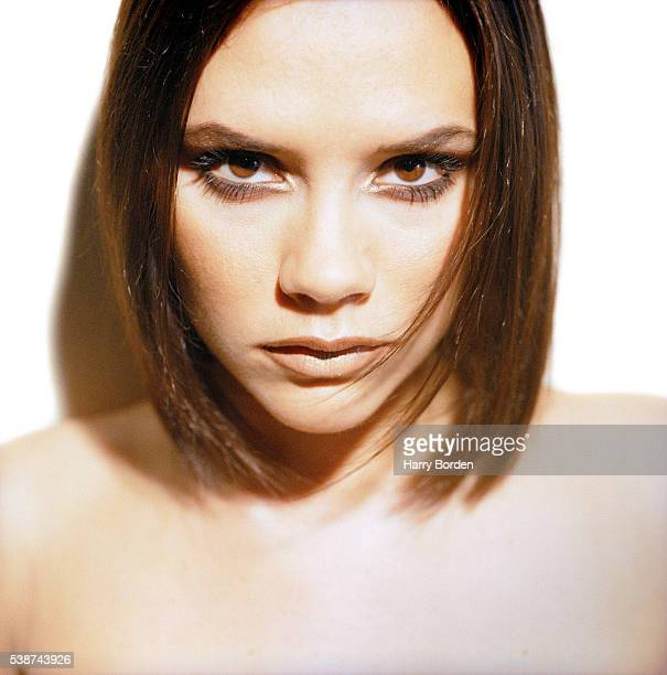 Singer Victoria Beckham aka Posh Spice of pop band the Spice Girls is photographed for the Observer on December 8 1997 in Las Vegas Nevada
