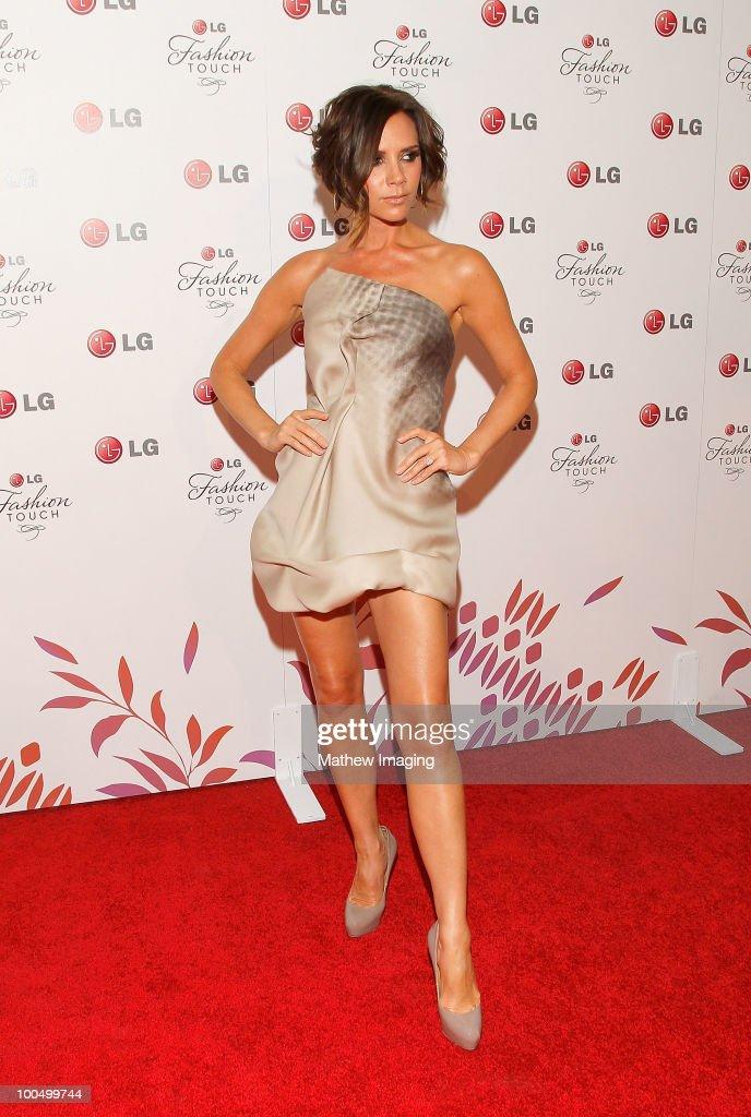 Singer Victoria Beckham arrives at the Victoria Beckham and
