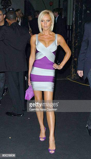 Singer Victoria Beckham at Marc Jacobs Spring 2008 during Mercedes-Benz Fashion Week at the New York State Armory on September 10, 2007 in New York...