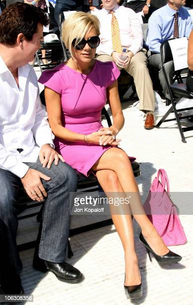 Singer Victoria Beckham at the David Beckham Official Presentation press conference at the Home Depot Center on July 12 2007 in Carson California