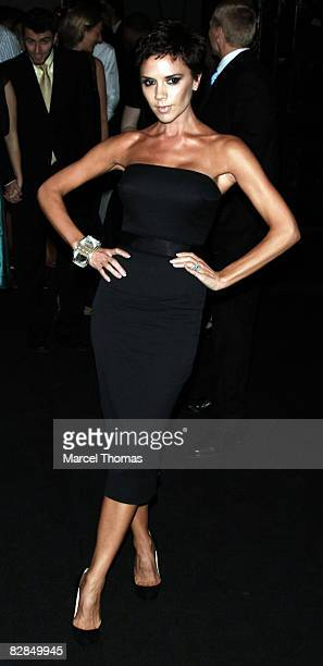 Singer Victoria Beckham attends the Marc Jacobs Spring 2009 fashion show during Mercedes-Benz Fashion Week at the NY State Armory on September 8,...