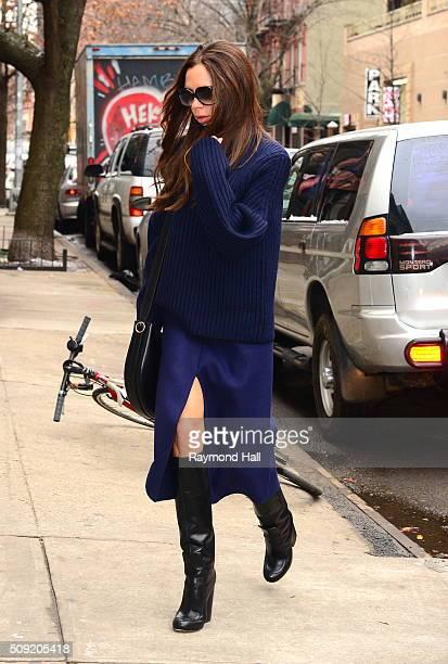Singer Victoria Beckham is seen walking in Soho on February 9 2016 in New York City