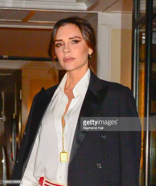 Singer Victoria Beckham is seen walking out of a hotel in midtown on January 24 2019 in New York City