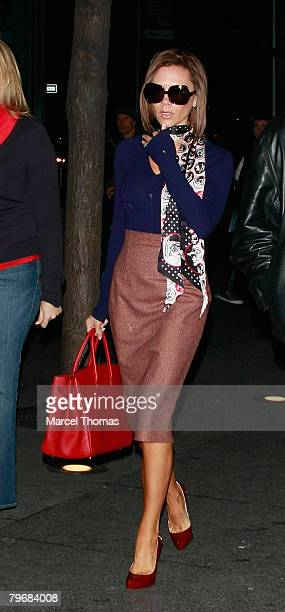 Singer Victoria Beckham sighting shopping at FAO Schwartz toy store on February 09 2008 in New York City, New York.