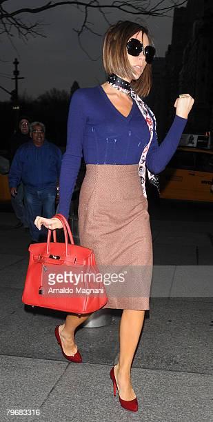 Singer Victoria Beckham walks in midtown February 9 2007 in New York City