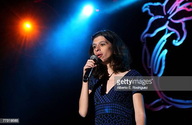 Singer Victoria Elizabeth Ackley performs during the Lili Claire Foundation 10th annual benefit dinner and auction held at the Hyatt Regency Century...