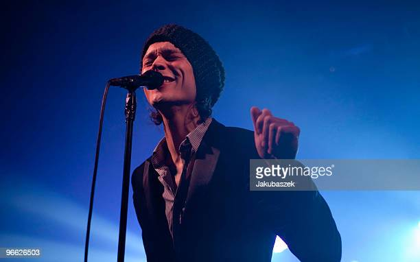 Singer Ville Valo of HIM performs at a secret concert at the CClub on February 12 2010 in Berlin Germany This is the realease day of the new album...