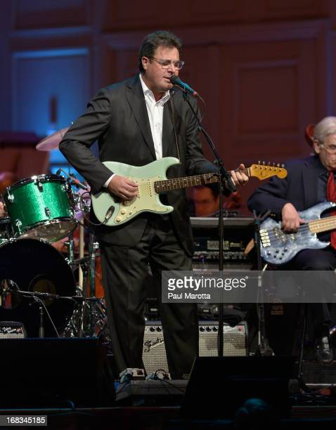Singer Vince Gill performs with Keith Lockhart and the Boston Pops at The Boston Pops Season Opening Concert at Symphony Hall on May 8 2013 in Boston...