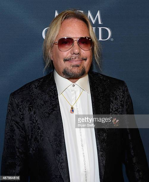 Singer Vince Neil of Motley Crue arrives at the VIP PreFight Party for 'High Stakes Mayweather v Berto' presented by Showtime at MGM Grand Garden...