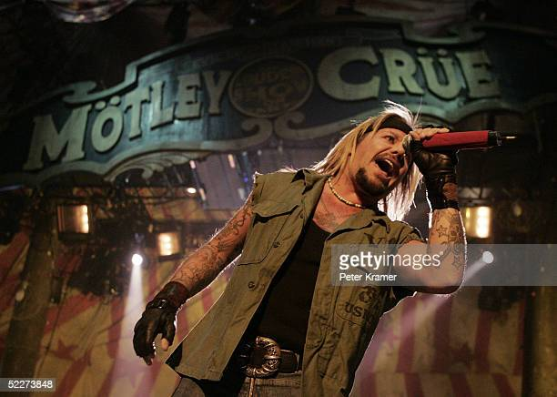 Singer Vince Neil of Motley Crue performs live at Madison Square Garden on March 3 2005 in New York City