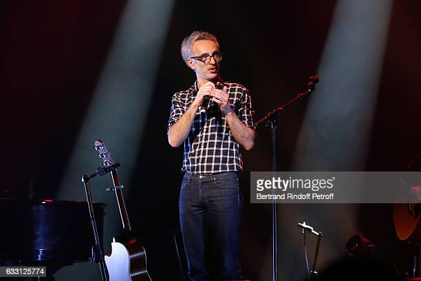 Singer Vincent Delerm performs during the Charity Gala against Alzheimer's disease at Salle Pleyel on January 30 2017 in Paris France
