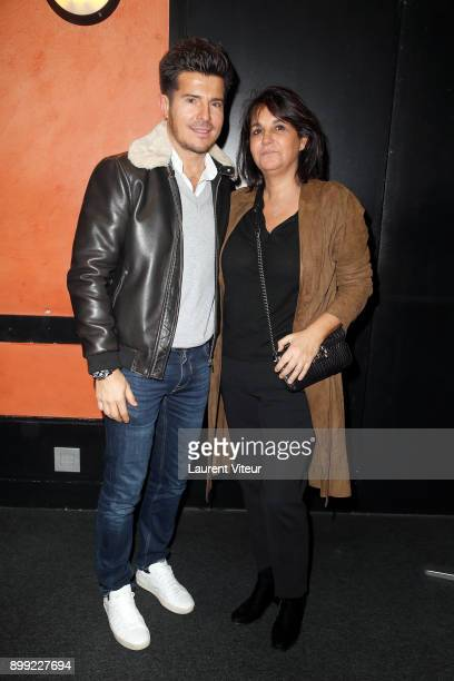 Singer Vincent Niclo and Journalist Valerie Expert attend 'Laurent Gerra Sans Moderation' Show at L'Olympia on December 26 2017 in Paris France