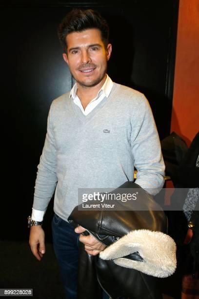 Singer Vincent Niclo attends 'Laurent Gerra Sans Moderation' Show at L'Olympia on December 26 2017 in Paris France