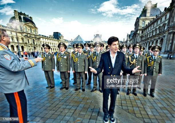 Singer Vincent Niclo is photographed for Self Assignment on September 1, 2012 in Paris, France.