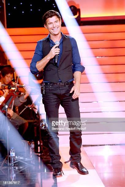 Singer Vincent Niclo performs at 'Le Grand Show' by Laurent Gerra : Rehearsal at La Plaine Saint Denis on September 20, 2013 in Paris, France.
