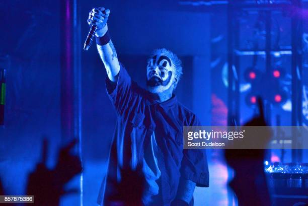 Singer Violent J of the band Insane Clown Posse performs onstage at The Observatory on October 4 2017 in Santa Ana California