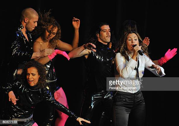 Singer Vitaa performs on stage during the Fight Aids Monte Carlo Gala on March 20 2008 in Monte Carlo Monaco