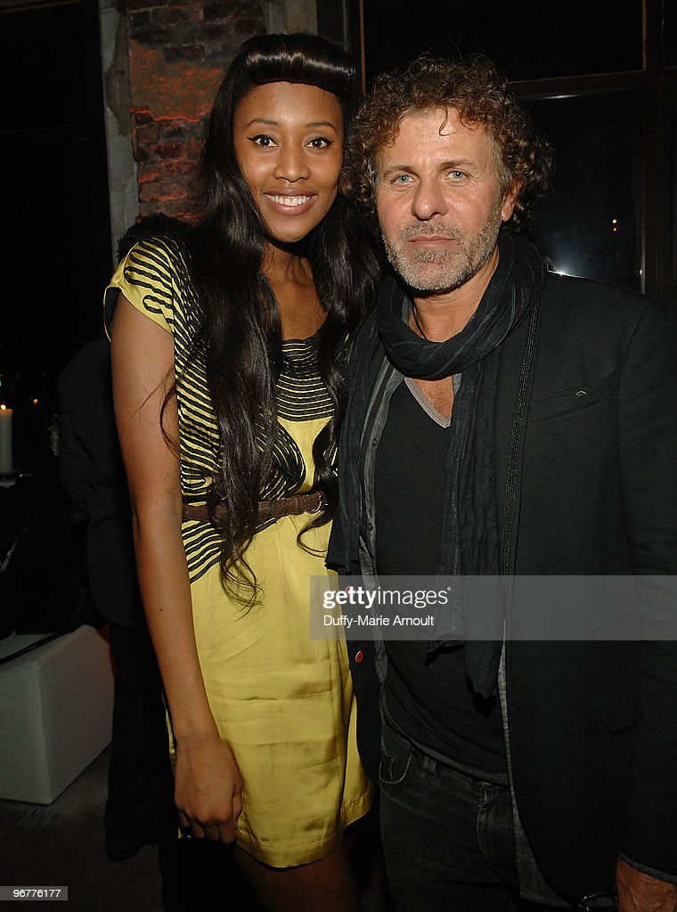 Singer VV Brown and Diesel CEO Renzo Rosso (R) attend Diesel Black Gold Fall 2010 cocktail reception during Mercedes-Benz Fashion Week on February 16, 2010 in New York City.