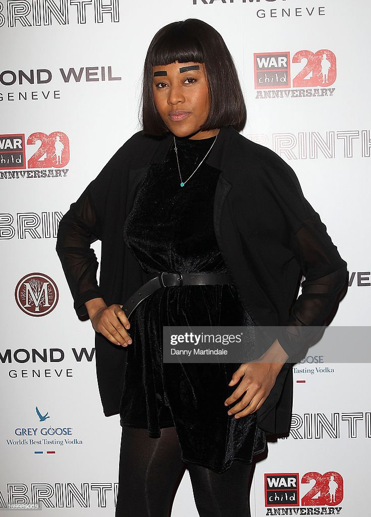 Singer VV Brown attends the Raymond Weil pre-Brit Awards dinner and 20th anniversary celebration of War Child at The Mosaica on January 24, 2013 in London, England.