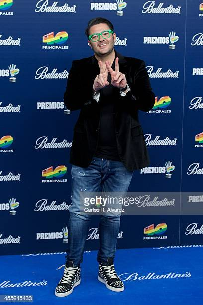 Singer Wally Lopez attends the '40 Principales Awards' 2013 photocall at Palacio de los Deportes on December 12 2013 in Madrid Spain