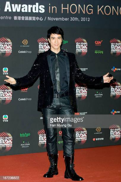 Singer Wang Leehom attends during the 2012 Mnet Asian Music Awards Red Carpet on November 30 2012 in Hong Kong Hong Kong