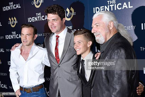 Singer Waylon Payne actor Blake Rayne actor Noah Urrea and Founder of City of Peace Films Yochanan Marcellino attend City Of Peace Films With The...
