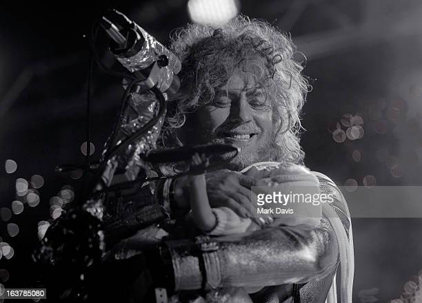 Singer Wayne Coyne of the Flaming Lips performs at the 2013 SXSW Music Film Interactive Festival held at the Auditorium Shores on March 15 2013 in...