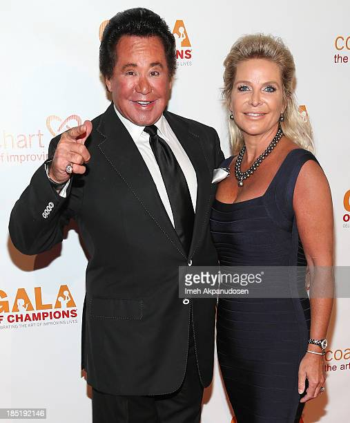 Singer Wayne Newton and his wife Kathleen McCrone attend CoachArt's 9th Annual 'Gala Of Champions' at The Beverly Hilton Hotel on October 17 2013 in...