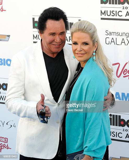 Singer Wayne Newton and Kathleen McCrone arrives at the 2013 Billboard Music Awards at the MGM Grand Garden Arena on May 19 2013 in Las Vegas Nevada