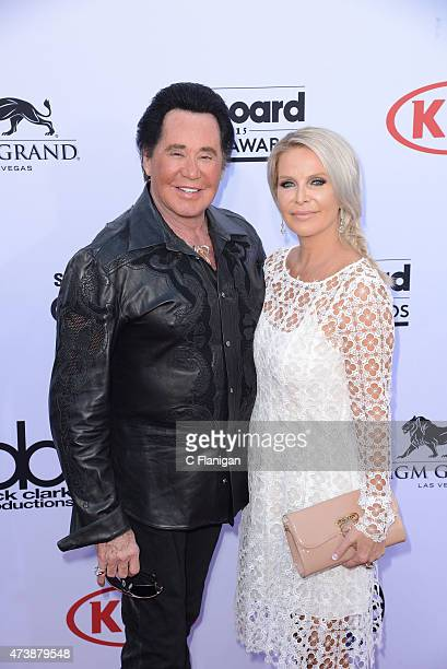 Singer Wayne Newton and Kathleen McCrone attend the 2015 Billboard Music Awards at MGM Grand Garden Arena on May 17 2015 in Las Vegas Nevada