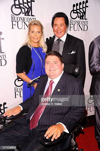 Singer Wayne Newton and Marc Buoniconti attend the 26th Annual Great Sports Legends Dinner to benefit the Buoniconti Fund To Cure Paralysis at The...
