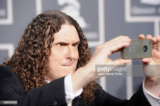Singer 'Weird' Al Yankovic arrives at the 54th Annual GRAMMY Awards held at Staples Center on February 12 2012 in Los Angeles California