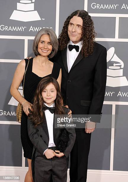 Singer 'Weird' Al Yankovic wife Suzanne Krajewsk and daughter Nina arrive at The 54th Annual GRAMMY Awards at Staples Center on February 12 2012 in...