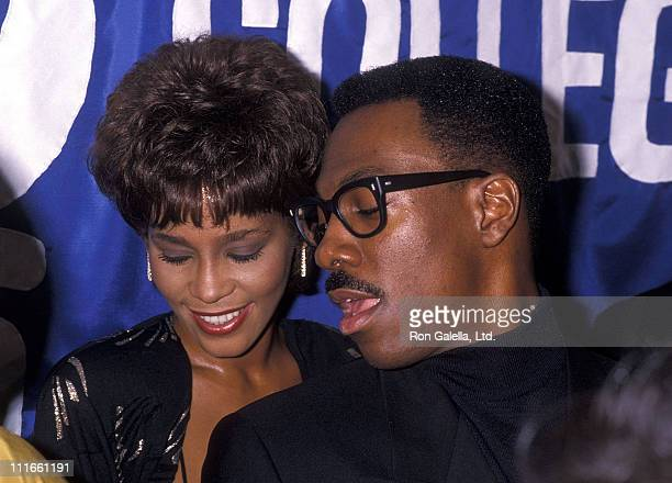 "Singer Whitney Houston and comedian/actor Eddie Murphy attend the United Negro College Fund's 10th Annual ""Lou Rawls Parade of Stars"" Telethon..."