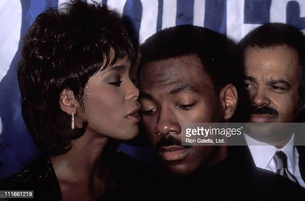 Singer Whitney Houston and comedian/actor Eddie Murphy attend the United Negro College Fund's 10th Annual Lou Rawls Parade of Stars Telethon KickOff...