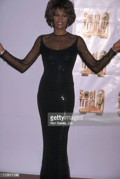 Singer Whitney Houston attends the 12th Annual Soul Train Music Awards on February 27, 1998 at Shrine Auditorium in Los Angeles, California.