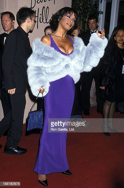 Singer Whitney Houston attends the 42nd Annual Grammy Awards PreParty Hosted by Clive Davis on February 22 2000 at Beverly Hills Hotel in Beverly...