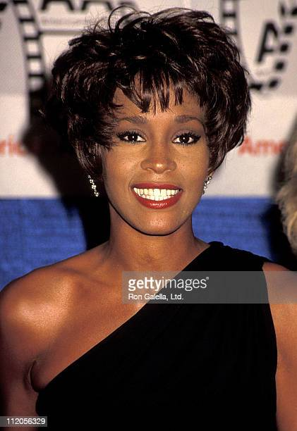 Singer Whitney Houston attends the Eighth Annual American Cinema Awards on January 12, 1991 Beverly Hilton Hotel in Beverly Hills, California.