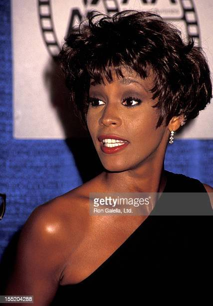 Singer Whitney Houston attends the Eighth Annual American Cinema Awards on January 12 1991 Beverly Hilton Hotel in Beverly Hills California