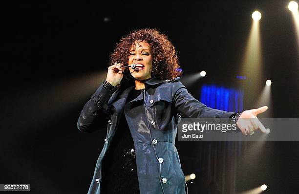 Only To Be Used with Articles on Whitney Houston - Nothing But Love Japan Tour*** Singer Whitney Houston performs at Saitama Super Arena on February...