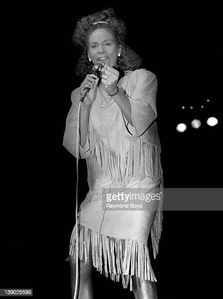 Singer Whitney Houston performs at the Holiday Star Theatre in Merrillville Indiana in JANUARY 1985