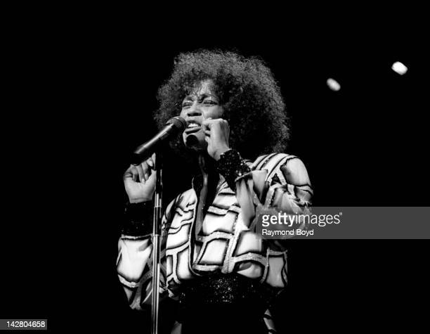Singer Whitney Houston performs at the Poplar Creek Music Theater in Hoffman Estates Illinois in JULY 1987