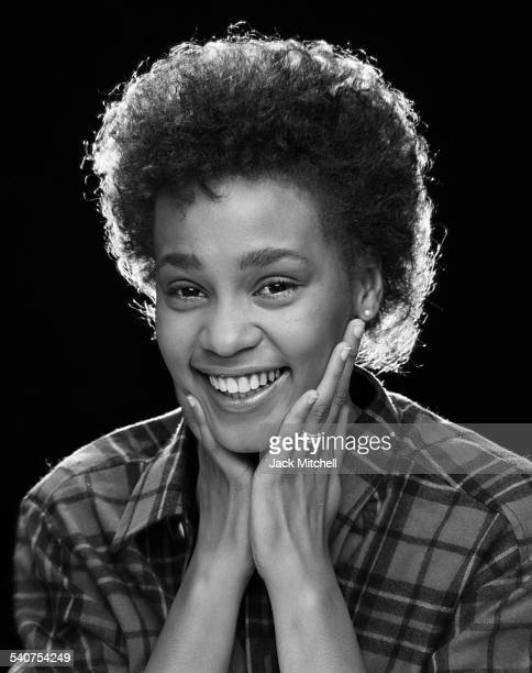 Singer Whitney Houston photographed in February 1982 when she was a senior in high school