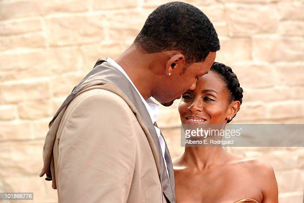 Singer Will Smith and actress Jada Pinkett Smith arrive to premiere of Columbia Pictures' The Karate Kid after party held at Mann Village Theatre on...