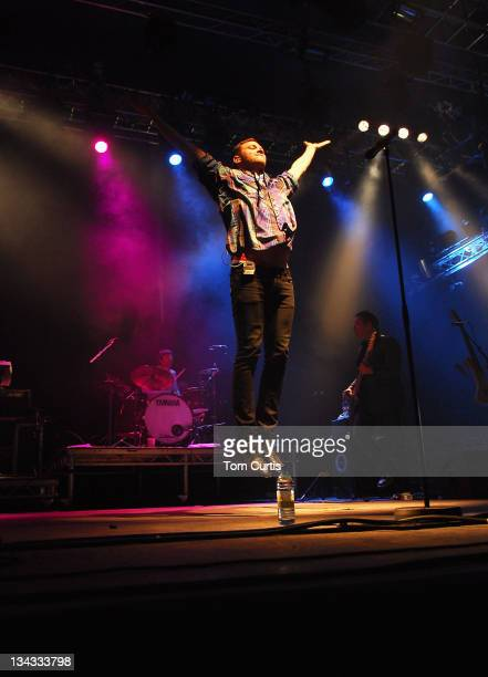 Singer Will Young performs onstage during Day Two of the T In The Park music festival on July 12 2008 in Kinross Scotland