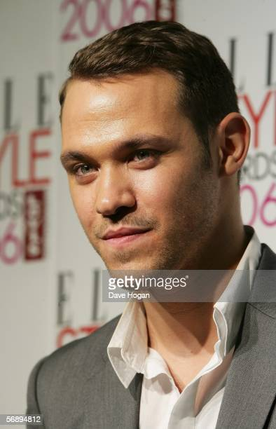 Singer Will Young poses backstage in the Awards Room at the ELLE Style Awards 2006 the fashion magazine's annual awards celebrating style at the...