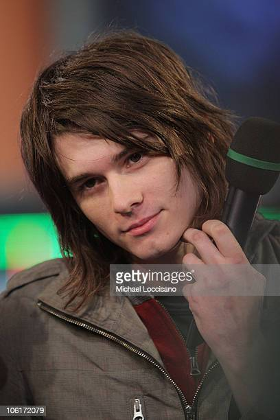 Singer William Beckett of The Academy Is appears on MTV's TRL at MTV's Times Square Studios October 29 2007 in New York City