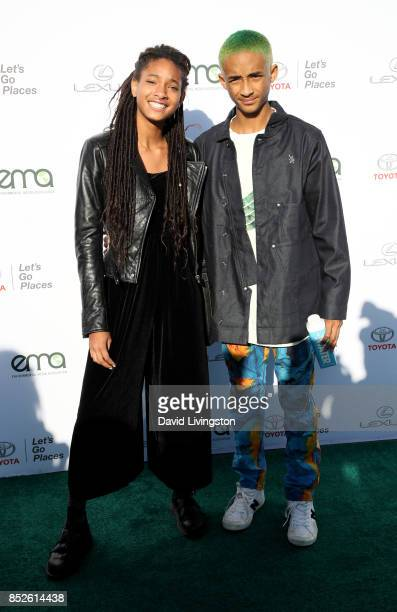 Singer Willow Smith and actor Jaden Smith attend the 27th Annual EMA Awards at Barker Hangar on September 23 2017 in Santa Monica California