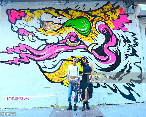 Singer Willow Smith and Kylie Jenner are seen in SoHo on June 27 2014 in New York City