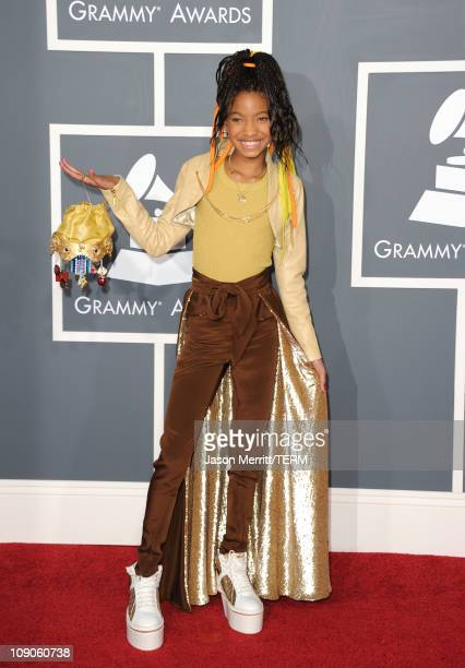 Singer Willow Smith arrives at The 53rd Annual GRAMMY Awards held at Staples Center on February 13 2011 in Los Angeles California